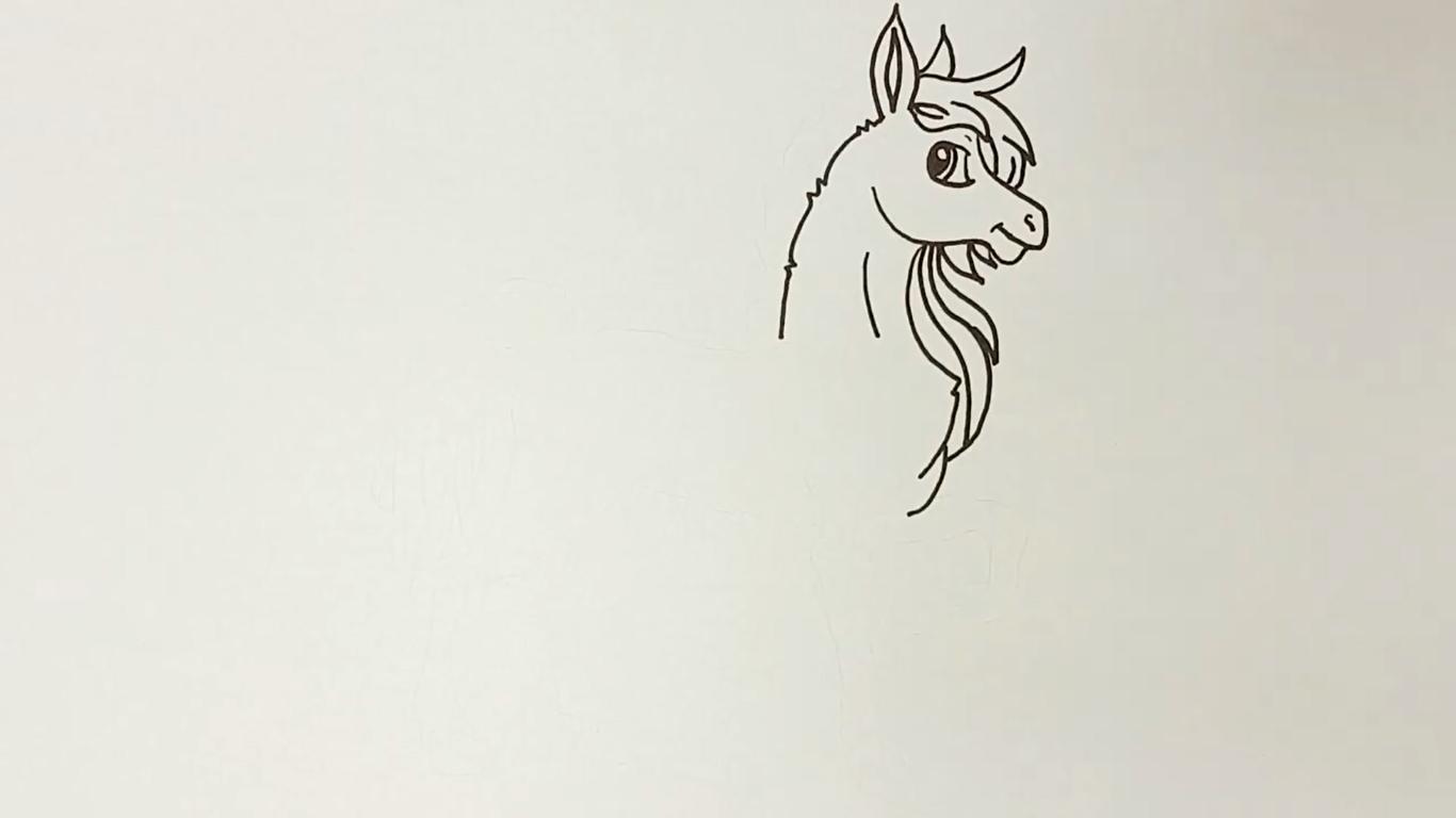 como dibujar un caballo kawaii paso a paso