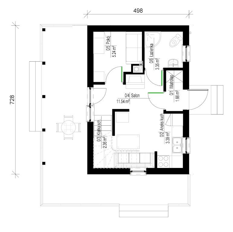 projekt domu urbi-d  tsl-993