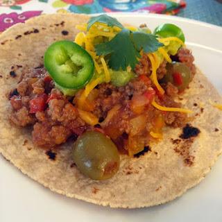 Beef Picadillo Tacos