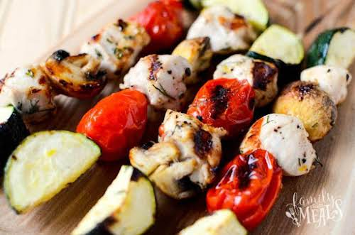 """Click Here for Recipe: Lemon Grilled Chicken Kabobs """"I came up with..."""