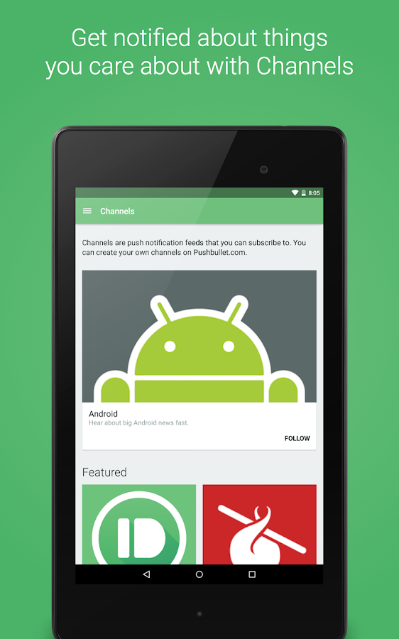 Pushbullet - SMS on PC – Capture d'écran