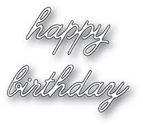Memory Box Die - Happy Birthday Cursive