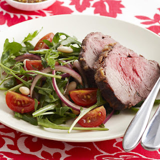 Crusted Beef with White Bean Salad