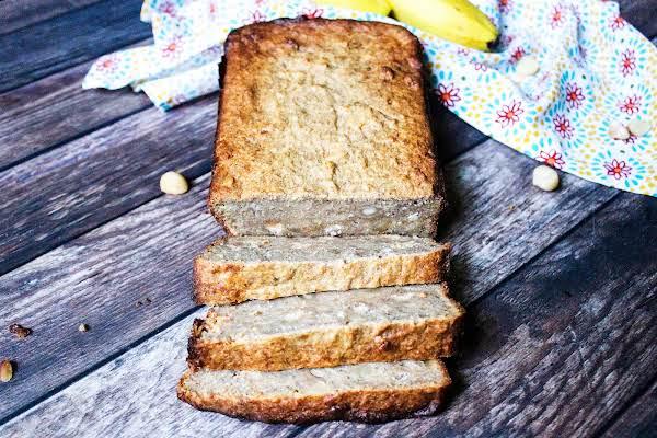 Easy Healthy Banana Bread Cut Into A Few Slices.