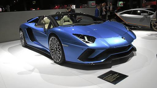 Lamborghini displayed the Aventador S Roadster.   Picture: NEWSPRESS UK