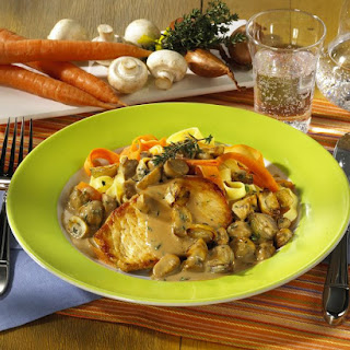 Turkey Steaks with Mushroom Sauce.