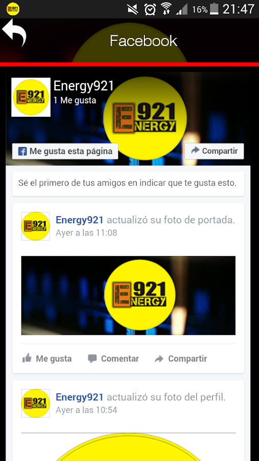 Energy 92.1- screenshot