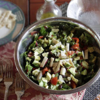 Mexican Chopped Salad with Lime Cilantro Dressing.