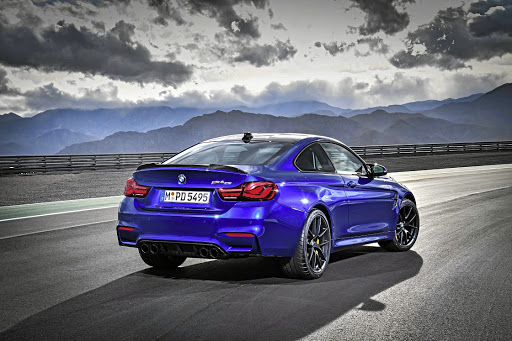 The rear has more discreet carbon fibre spoiler than that on the M4 GT. Picture: BMW
