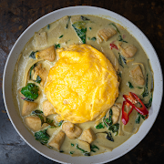 Green Curry with Rice & Scrambled Egg