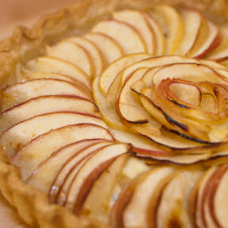 Apple & Brie Tart (with figs and walnuts).