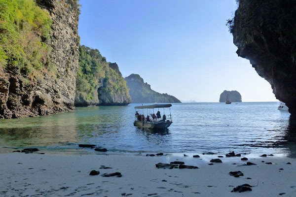 Explore the secluded beach