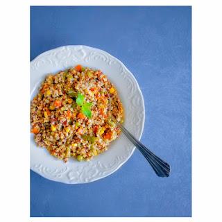 Quick Vegetable Quinoa Pilaf Pulao Recipe