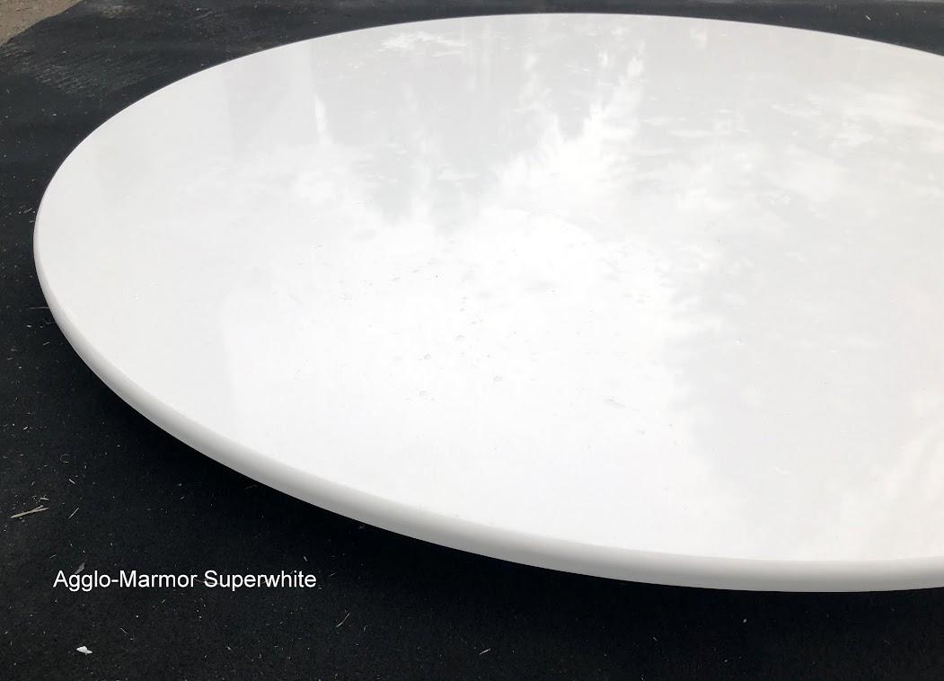 Tischplatte HOCHGLANZ WEIß Marmorplatte Esstischplatte Arbeitsplatte ...