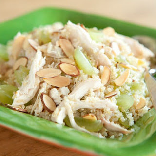 Quinoa Salad with Chicken, Grapes and Almonds.