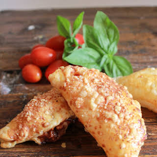 Tomato Double Cheese Stuffed Puff Pastry.