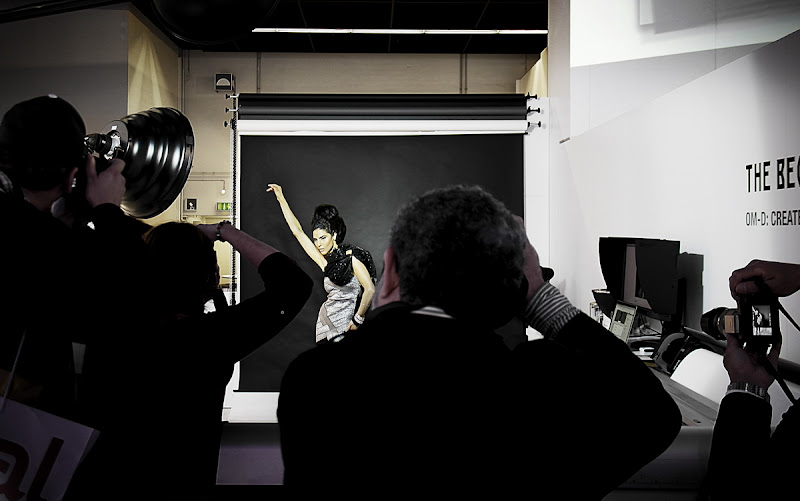 Photo: Paparazzing the paparazzi at the Om-D booth