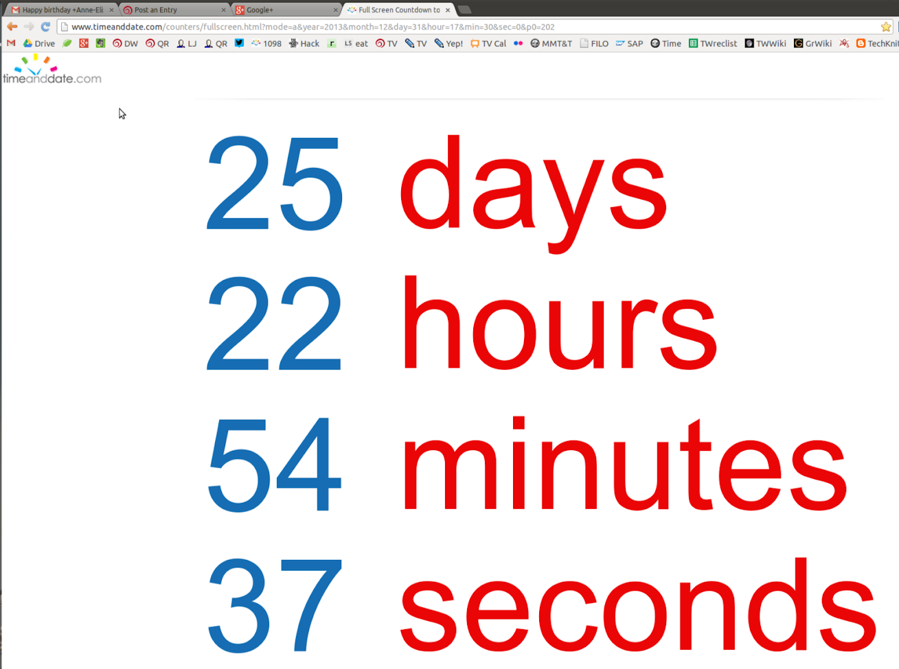 Retirement Countdown showing 25 days, 23 hours