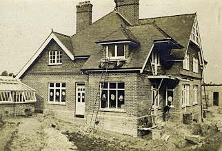 Photo: Old Orchard, Broadstone, Dorset being built in 1902. Wallace built this house and lived there from December 1902 until his death on 7 November 1913. Photographer: ? First published by the A. R. Wallace Memorial Fund & G. W. Beccaloni in 2010. Scanned with permission from the original owned by the Wallace family. Copyright of scan and owner of Publication Right: A. R. Wallace Memorial Fund & G. W. Beccaloni.