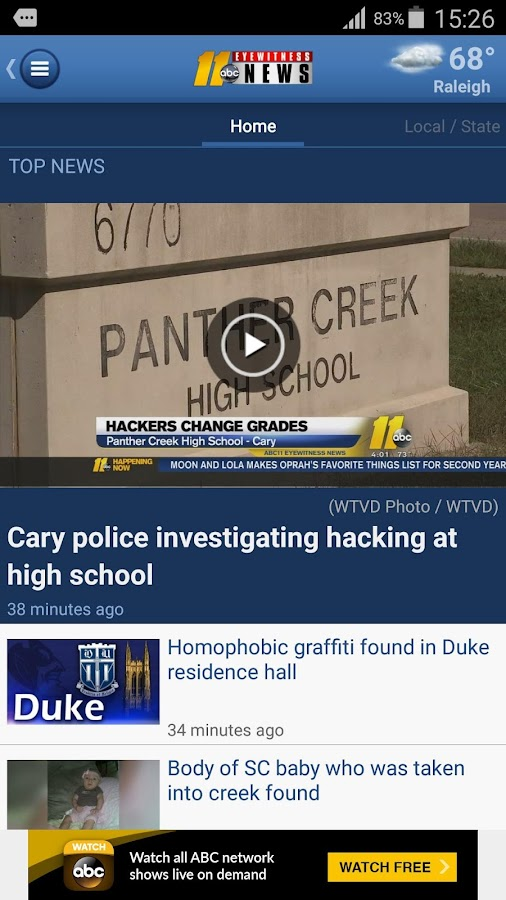 ABC11 Raleigh-Durham- screenshot