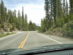 Photo: Driving on toward Yellowstone lake