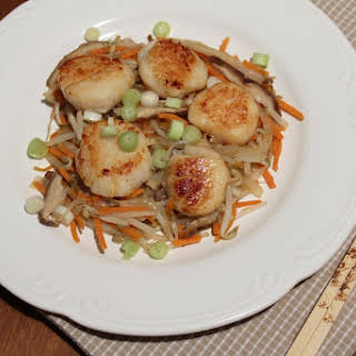 Scallops With Vegetables Stir Fry Recipes.