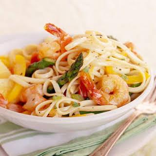 Basil-Lemon Shrimp Linguine.