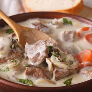 Blanquette De Veau (White Veal Stew).
