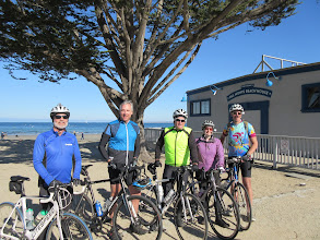 Photo: The crew at the beach. John Wallace, Scott Brown, some fat guy, Kristin Rozier, and Jon Kaplan