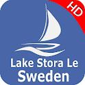 Stora Le sjö - Sverige Offline GPS Nautisk Karta icon