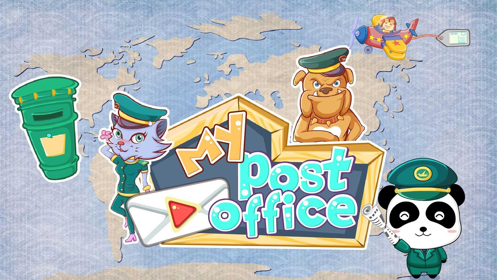 Baby Panda's Post Office- screenshot