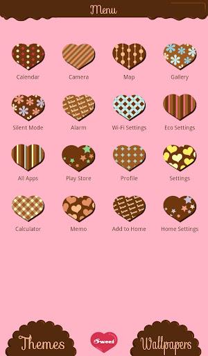 無料个人化Appの★무료 꾸미기테마★Chocolate Hearts|記事Game