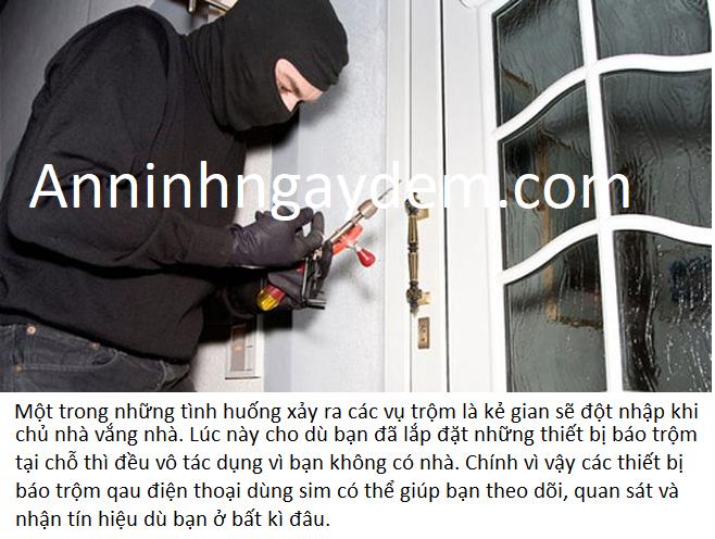 báo trộm qua điện thoại