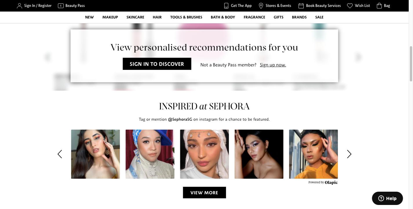 Sephora user generated content