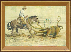 "Photo: Ropin' Cowboys3 5/8"" X 5 1/2"""