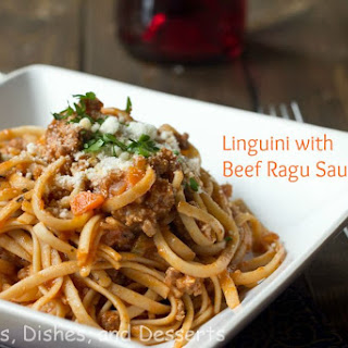 Linguini with Beef Ragu Sauce