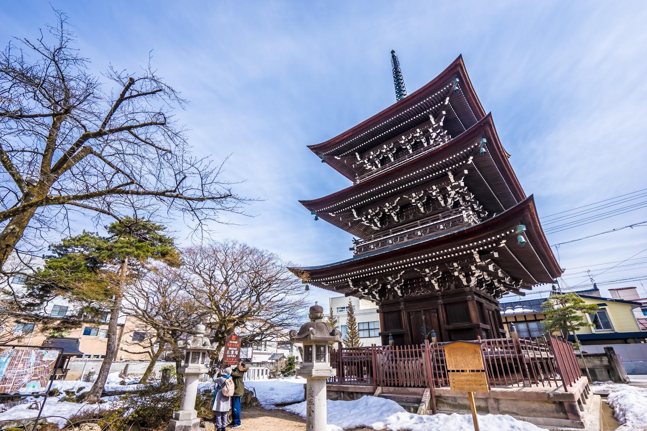 高山 飛騨国分寺 三重塔