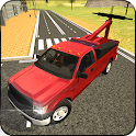 Tow Truck Transporter 3D icon