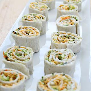 Vegetable Tortilla Roll Ups.