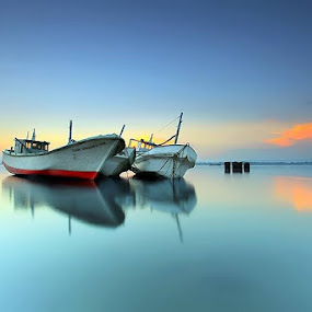 Simply Morning by Agoes Antara - Landscapes Waterscapes