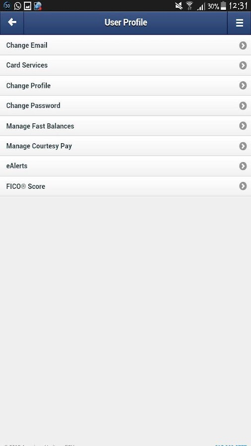 AMHFCU MobileTeller- screenshot