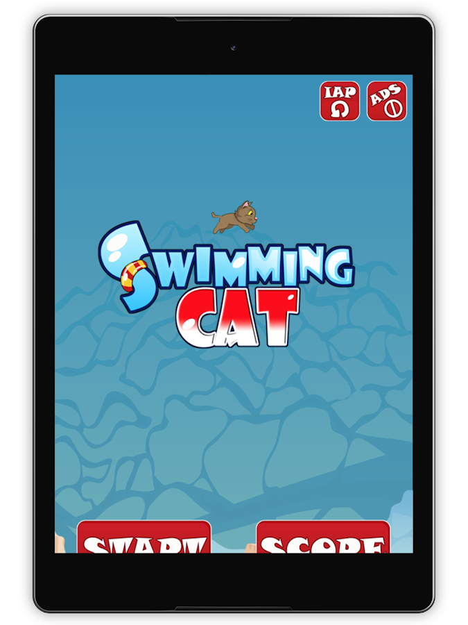 Swimming Cat- screenshot