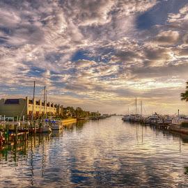 Marker 1 Marina. Dunedin, Florida. by Edward Allen - City,  Street & Park  Vistas