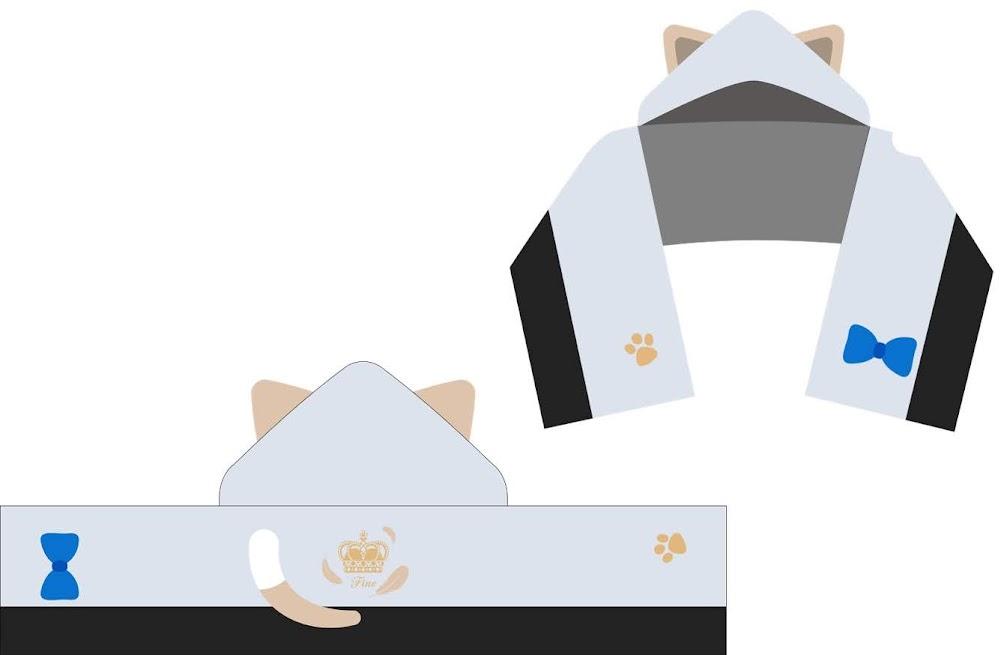 【画像】ねこ耳フードマフラータオル (全12種)