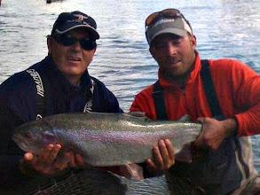"""Photo: A 32.5""""x17.5"""" Kenai river rainbow trout."""