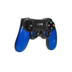 Controller de joc PS4 Wireless, vibratii duale, Negru/Albastru