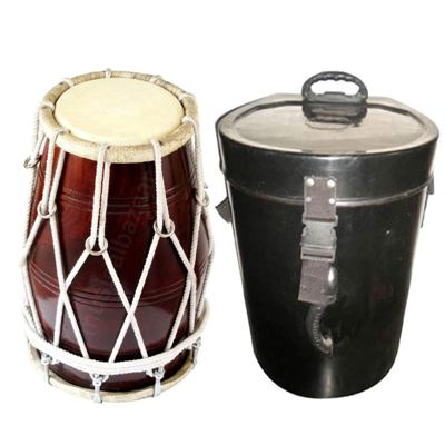 """WOODEN DHOLAK NUT 18"""" By SHARMA MUSICAL STORE Best Dholaks In India"""