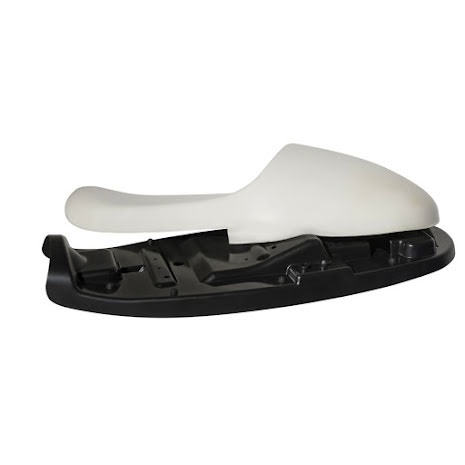 Bonneville Seat Base Kit - ABS Seat Pan incl Rubbers and Hooks + Cafe Racer Hump Foam