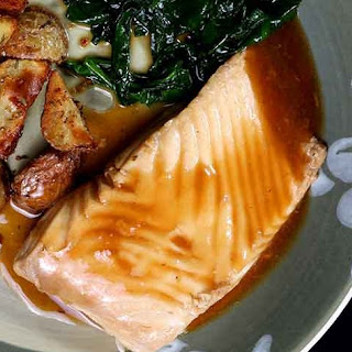 Halibut Poached in Bacon Broth Recipe