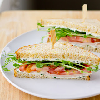 Turkey Sandwich with Pea Shoots